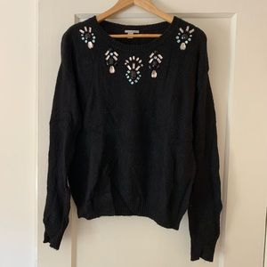 Halogen Bejeweled Sweater